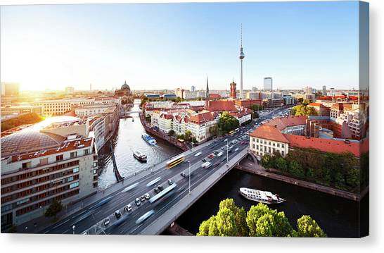 Berlin Cityscape Canvas Print by Ricowde