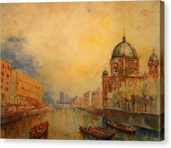 Berlin Canvas Print - Berlin by Juan  Bosco