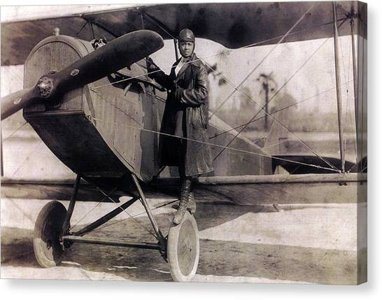 Notable Canvas Print - Bessie Coleman, American Aviator by Science Source