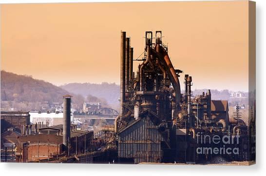 Bethlehem Steel  Sold 3 Canvas Print