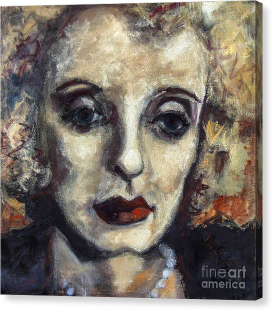 Bette Davis Classic Movie Stars Canvas Print