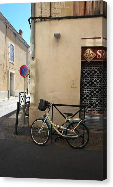 Bicycle Aigues Mortes France Canvas Print