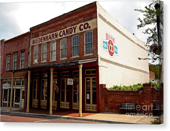 Biedenharn Candy Co Canvas Print by Russell Christie