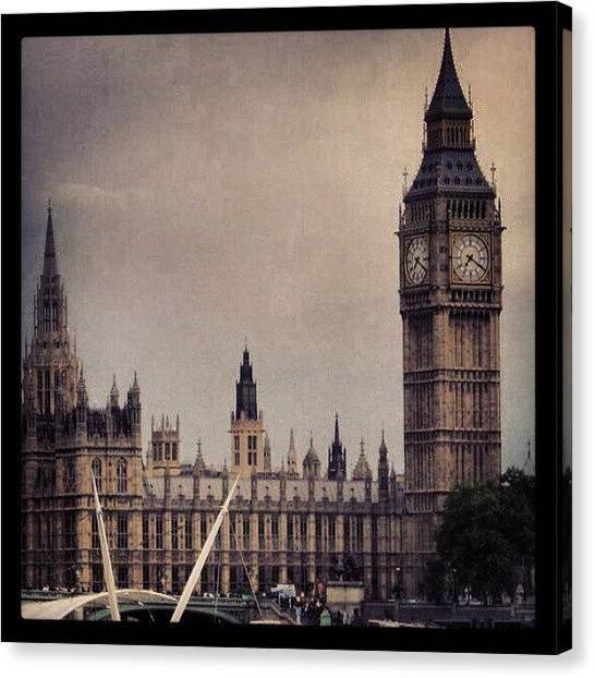 Parliament Canvas Print - Big Ben by Lottie H