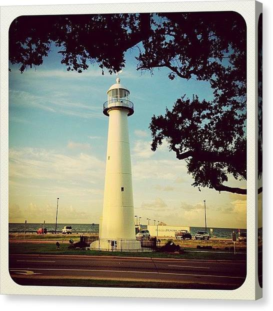 Lighthouses Canvas Print - Biloxi Lighthouse  by Scott Pellegrin