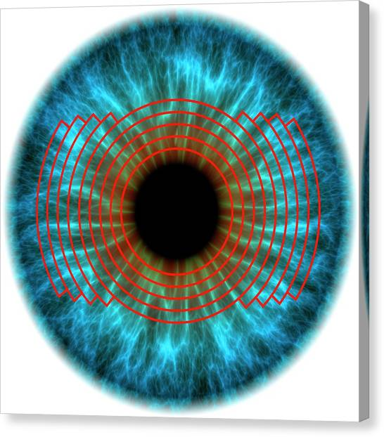 Biometrics Canvas Print - Biometric Eye Scan by Alfred Pasieka