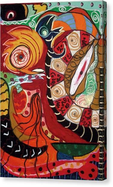 Birds Dragons Whales Canvas Print