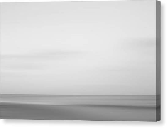 Black And White Abstract Seascape No. 01 Canvas Print