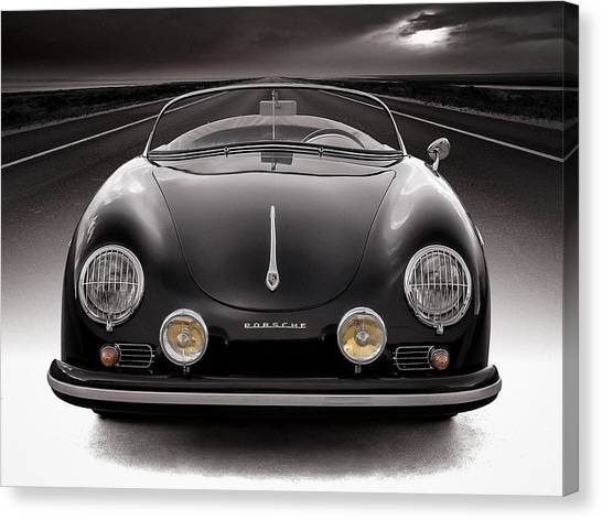 Porsche Canvas Print - Black Speedster by Douglas Pittman