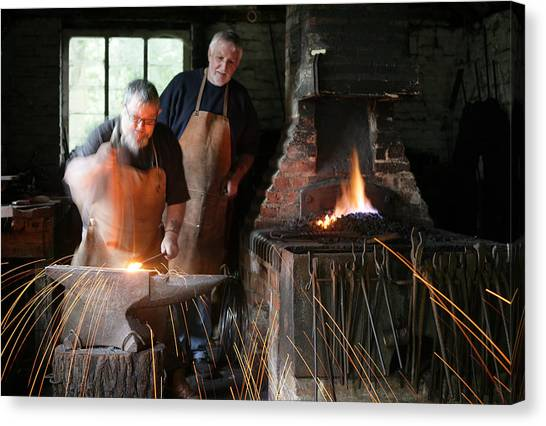 Blacksmith Canvas Print by Stephen Norris