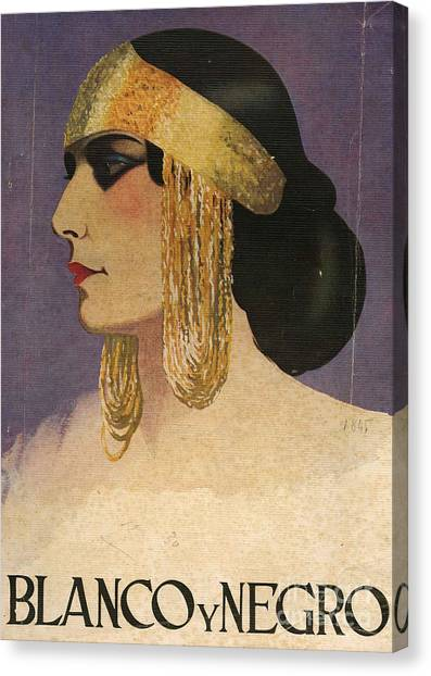Blanco Y Negro  1929 1920s Spain Cc Canvas Print by The Advertising Archives