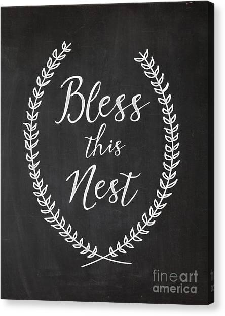 Home Canvas Print - Bless This Nest by Natalie Skywalker