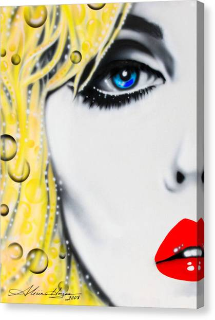 Blondie Canvas Print by Alicia Hayes
