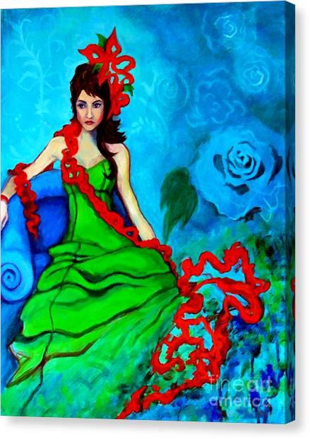 Blue Compliments Canvas Print