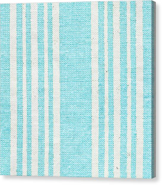Pattern Canvas Print - Blue Fabric by Tom Gowanlock