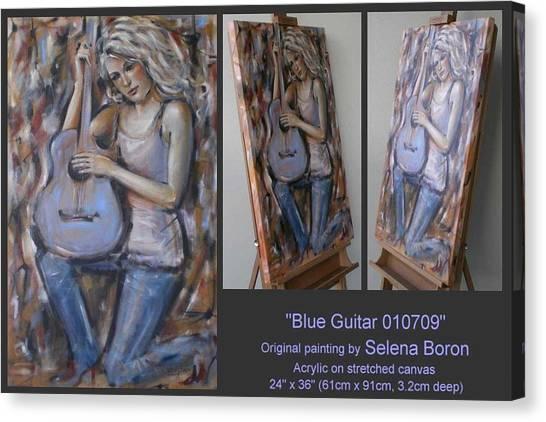 Blue Guitar 010709 Canvas Print