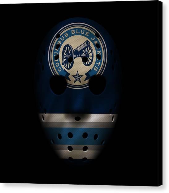 Columbus Blue Jackets Canvas Print - Blue Jackets Jersey Mask by Joe Hamilton