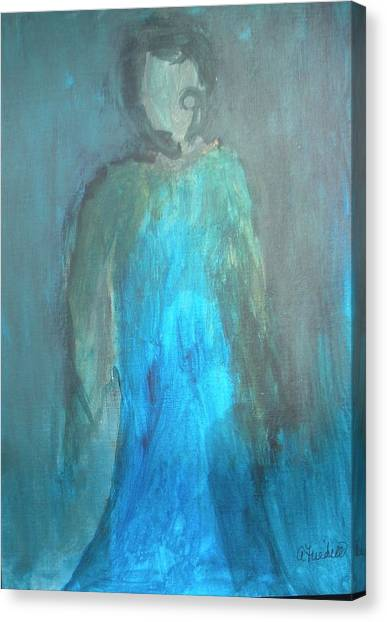 Blue Lady Canvas Print by Andrea Friedell