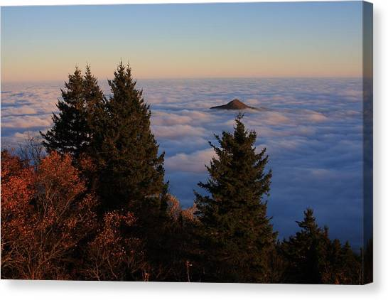Blue Ridge Parkway Sea Of Clouds Canvas Print