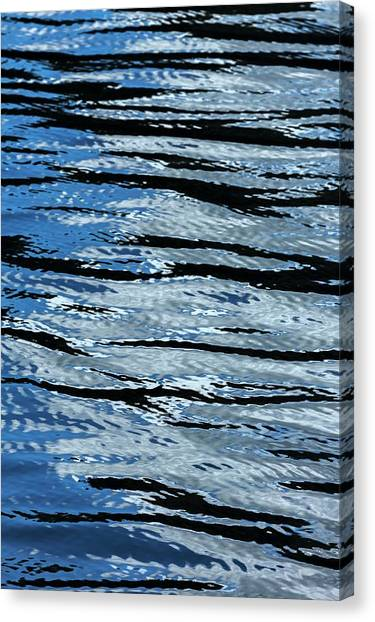 Canvas Print - Blue Rippled Water Of British Columbias by Macduff Everton