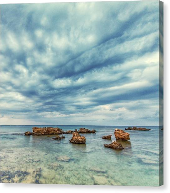 Cyclones Canvas Print - Blue by Stelios Kleanthous