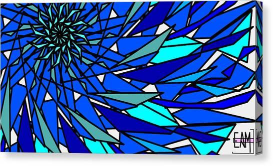 Blue Sun Canvas Print