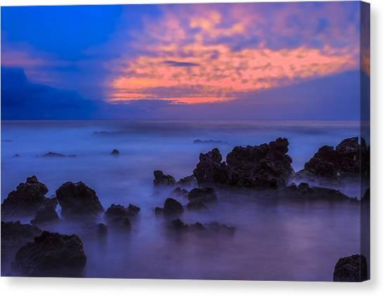 Blue Sunrise 1 Canvas Print