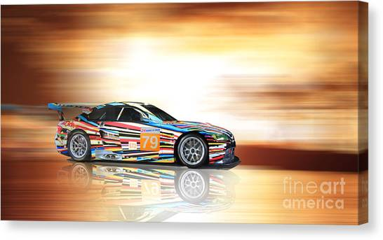 Bmw M3 Art Car Canvas Print
