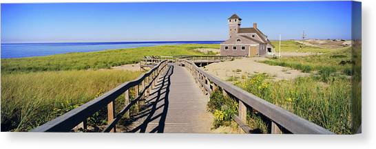 Chatham Canvas Print - Boardwalk Leading Towards Old Harbor by Panoramic Images