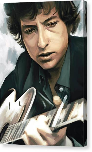 Bob Dylan Canvas Print - Bob Dylan Artwork by Sheraz A