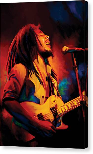 Bob Marley Artwork Canvas Print