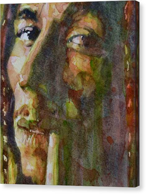 Singer Canvas Print - Bob Marley by Paul Lovering