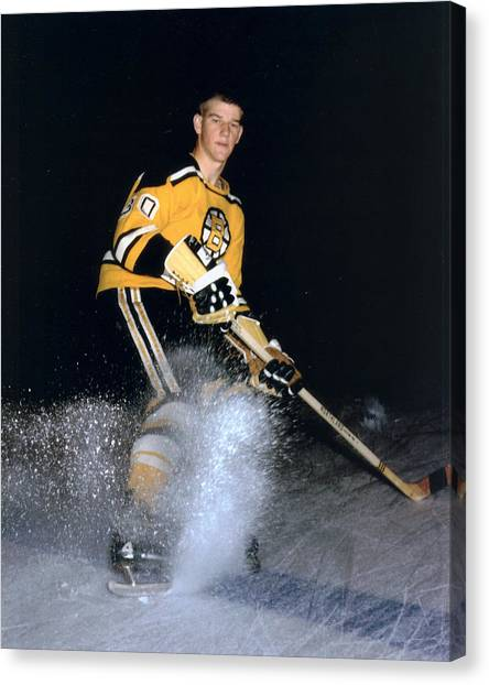 Hockey Players Canvas Print - Bobby Orr by Retro Images Archive