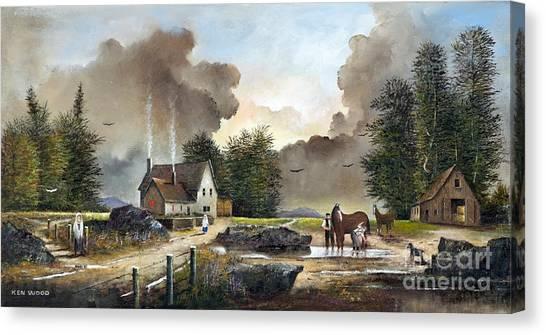 Bodmin Farm Canvas Print