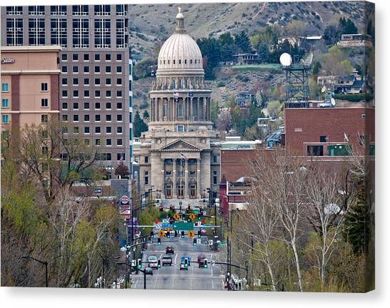 Boise State University Canvas Print - Boise by Elijah Weber