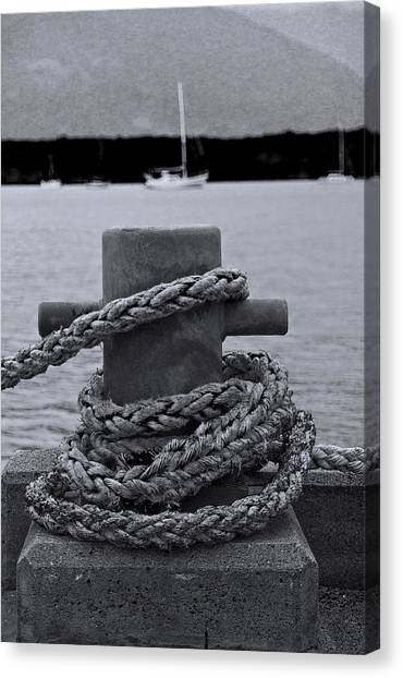 Canvas Print featuring the photograph Bollard by Debbie Cundy