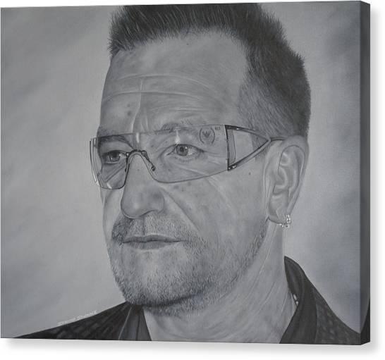 Bono Canvas Print - Bono by David Dunne