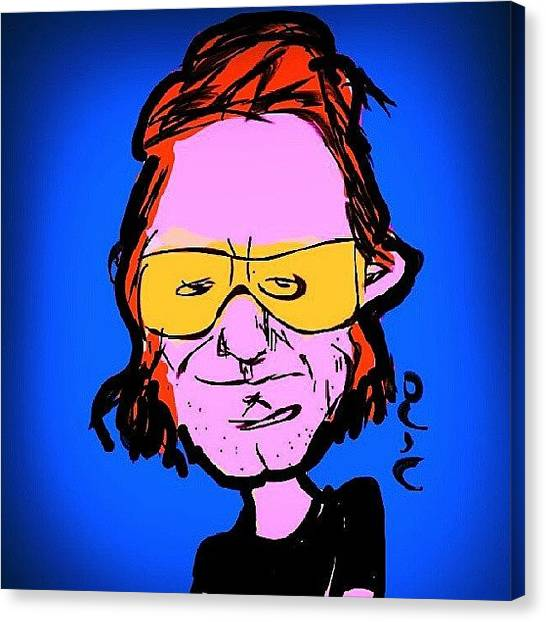 U2 Canvas Print - #bonovox #u2 #cartoon #sketching by Nuno Marques