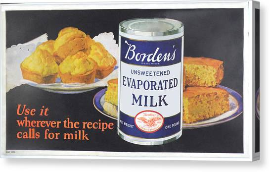 Cornbread Canvas Print - Borden's Evaporated Milk by Woodson Savage
