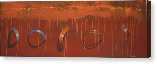 Bossini 5 Rings Canvas Print by Clive Holden