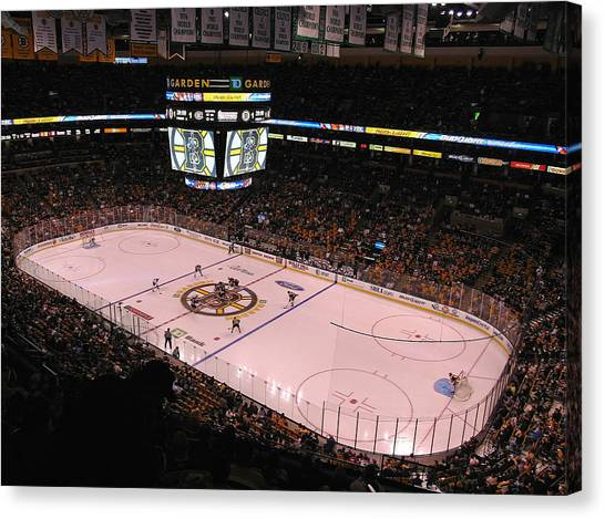 Boston Bruins Canvas Print - Boston Bruins by Juergen Roth
