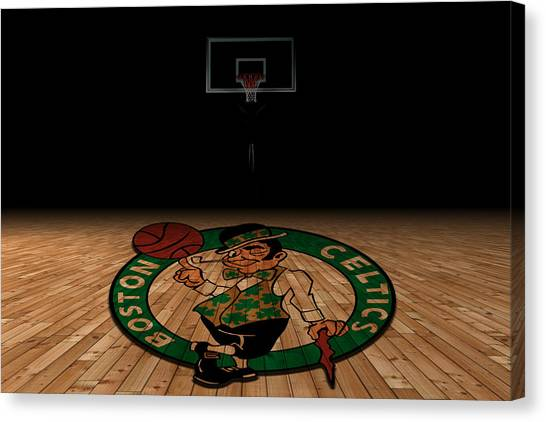 Ball State University Canvas Print - Boston Celtics by Joe Hamilton