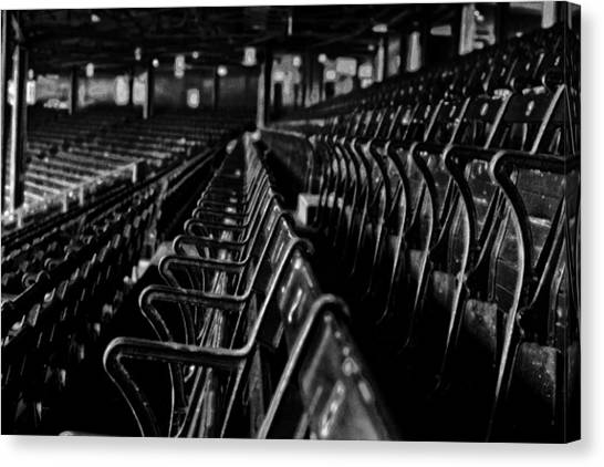 Bostons Fenway Park Baseball Vintage Seats Canvas Print