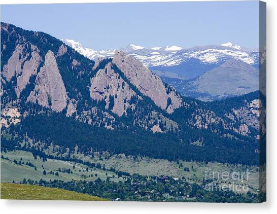 University Of Colorado Canvas Print - Boulder In The Summertime by Steve Krull
