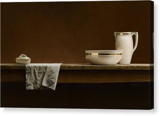 Mvc Canvas Print - Water Pitcher by Mark Van crombrugge