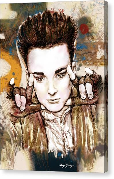 Influence Canvas Print - Boy George Stylised Drawing Art Poster by Kim Wang