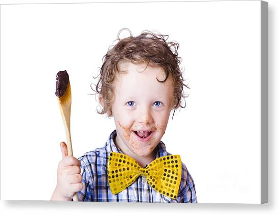 Tasting Canvas Print - Boy Messing With Food by Jorgo Photography - Wall Art Gallery