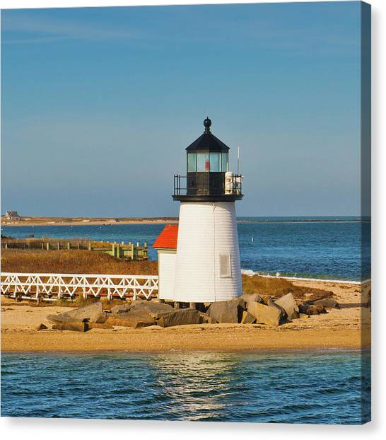 Brant Point Lighthouse Nantucket Canvas Print