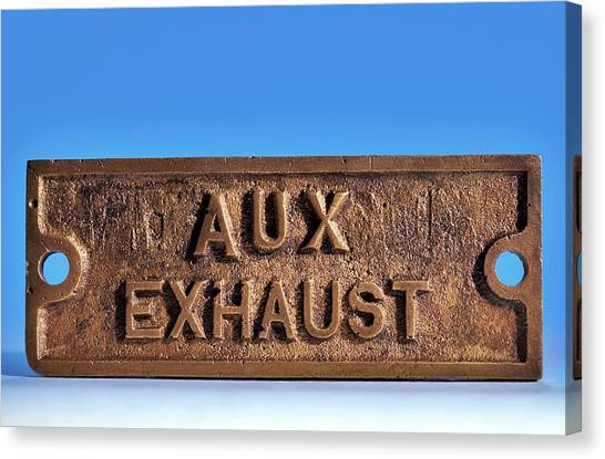 Brass Sign From The Titanic Canvas Print by Patrick Landmann/science Photo Library