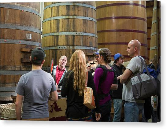 Craft Beer Canvas Print - Brewery Tour by Jim West